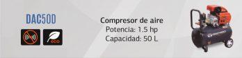 Compresor De Aire Daewoo Dac50d + Accesorios