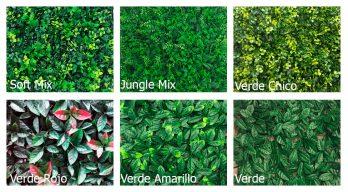 Jardin Vertical Artificial Pvc Muro Verde Decoredes Verde Roja (6071)