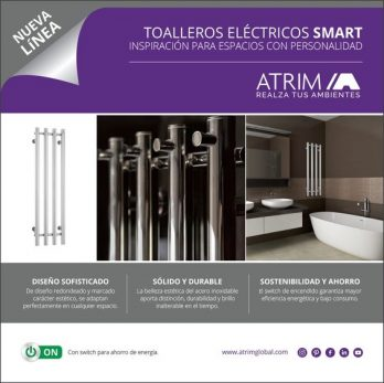 Toallero Electrico Acero Inoxidable Atrim Smart Coco-1004+