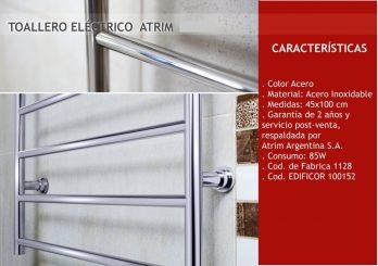 Toallero Electrico Acero Inoxidable Atrim Medium Plus Coco-1128+