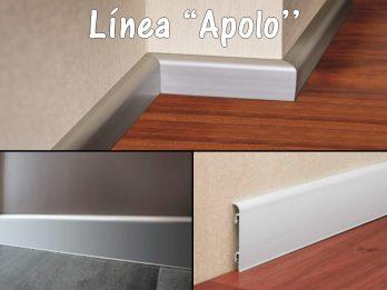 Zocalo Apolo 10x70x2500mm Aluminio/Cromo Mate Atrim