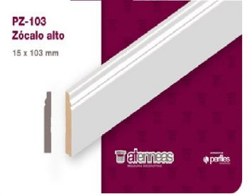 Zocalo Prepintado Atennea Pz-103 15x103mm