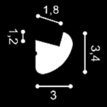 Cornisa De Pvc Cubre Led Techo / Pared Cx188