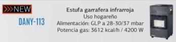 Estufa Garrafera Infrarroja Daewoo Dany-113 4200w