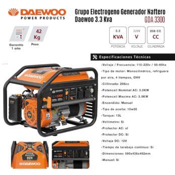 Grupo Electrogeno Generador Daewoo Gda3300